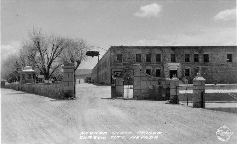 Nevada State Prison entrance, late 1920's
